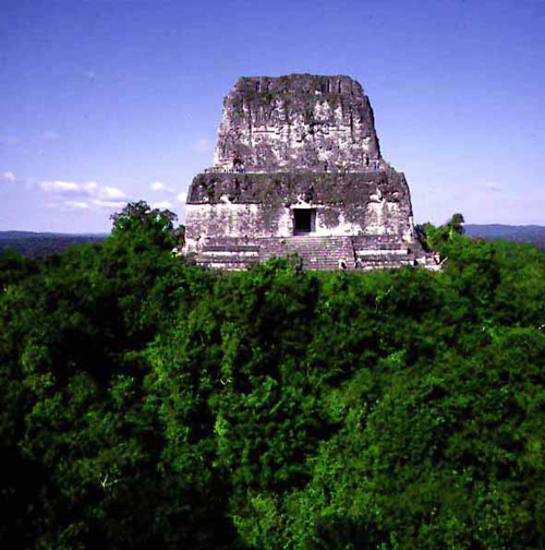 Aerial view of Tikal