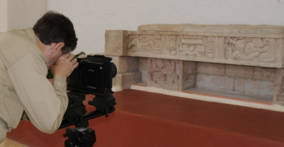 Photographing at Copan Museum